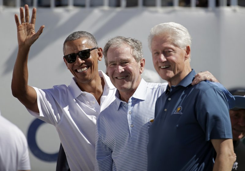 President Obama, Bush, and Clinton