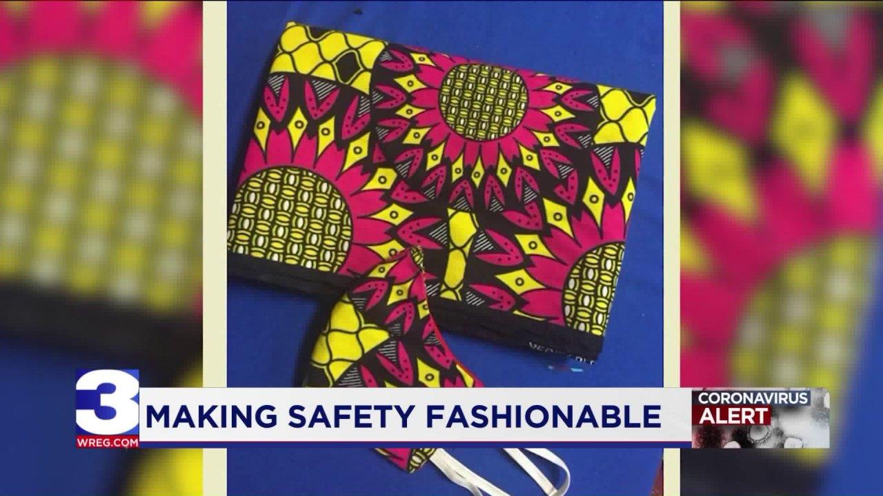 Binghampton retailer repurposes traditional West African fabric to make masks