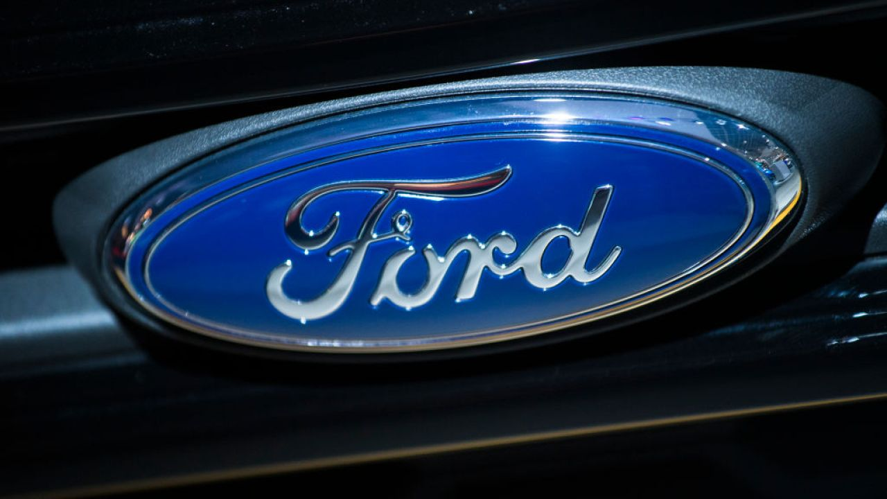 Illustration shows the logo of Ford at the #WeAreMobility fair at the 97th edition of the Brussels Motor Show, at Brussels Expo, on Friday 18 January