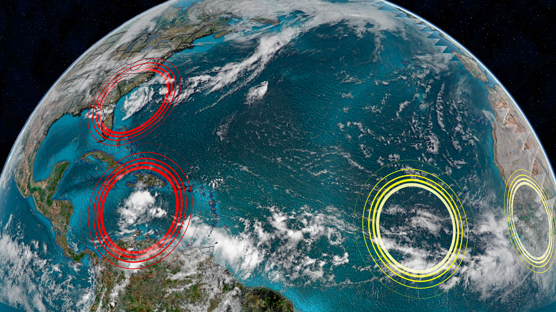 The National Hurricane Center Is Monitoring Four Areas For Potential Tropical Development