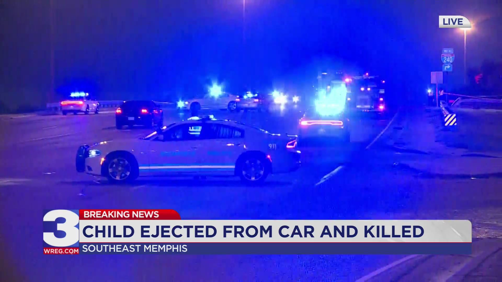 Child killed, adult injured in crash on I 240 | WREG.com