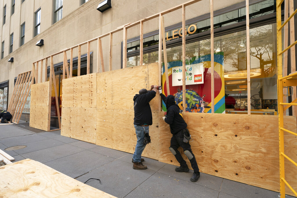 Striking images of businesses boarded up for Election Day in 15 major US cities
