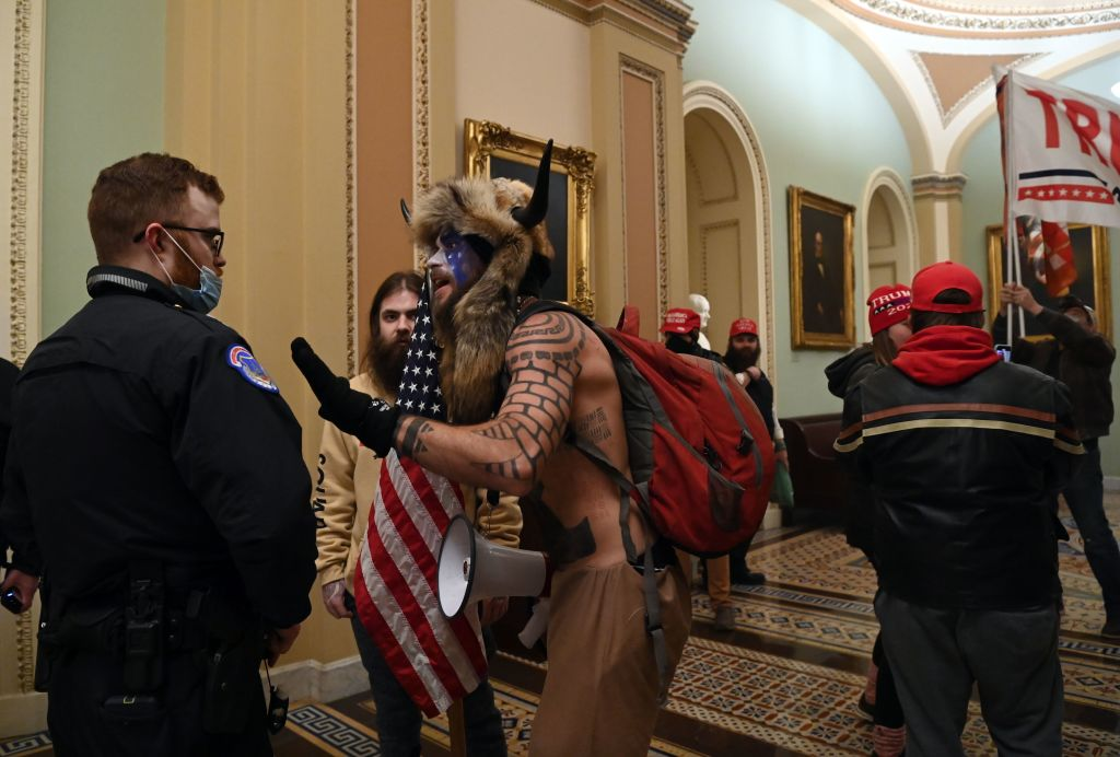Man identified as horned, shirtless Capitol occupier now facing charges